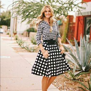 Kate Spade checked Midi skirt. Like new condition